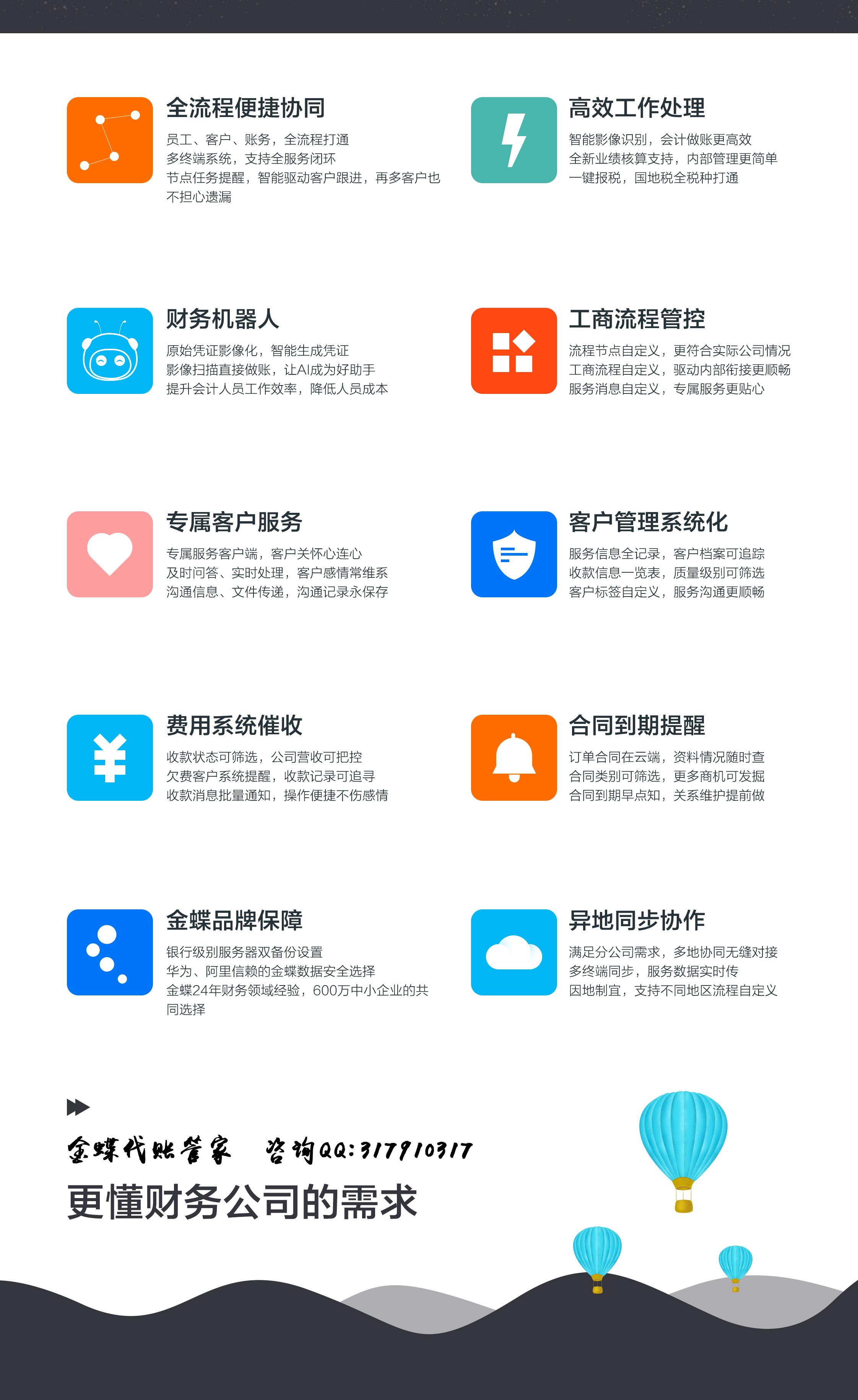代账财务软件功能介绍
